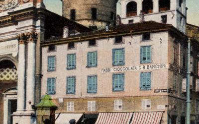 Storia dell'antica insegna Banchini in Piazza Garibaldi